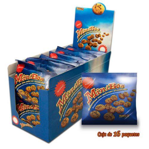 Caja de Galletas Minibon de Chocolate