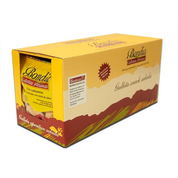 Caja de galletas con cañamón