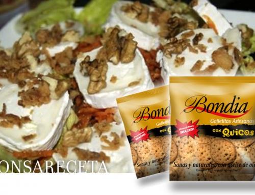 Ricetta: Insalata di formaggio di capra con cracker e kikos cipolla